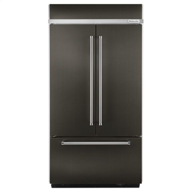 "Kitchenaid 24.2 Cu. Ft. 42"" Width Built-In Stainless French Door Refrigerator with Platinum Interior Design - Black Stainless Steel with PrintShield™ Finish"