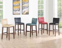 "Tiffany KD Bar Chair, Black 18""x23""x41"""