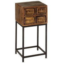 Repurposed Brick Mold 4 Drawer Side Table (Each One Will Vary)