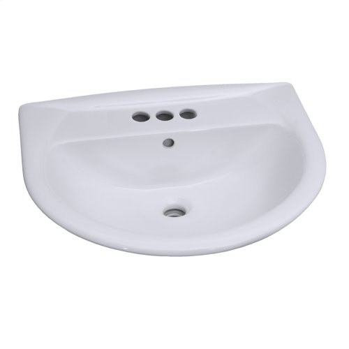 Karla 550 Pedestal Lavatory - White
