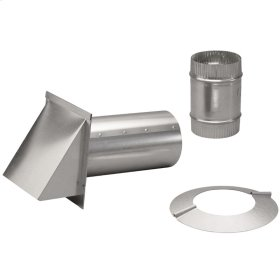 """Pressure Relief Damper with Wall Cap and 6"""" Collar"""