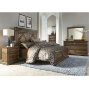 King Panel Bed, Dresser & Mirror, Chest, N/S Product Image