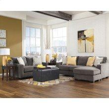 Signature Design by Ashley Hodan Living Room Set in Marble Microfiber