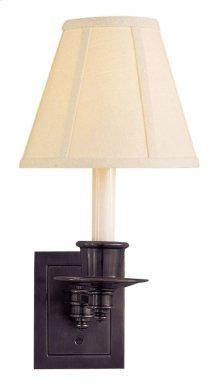 Visual Comfort S2005BZ-L Studio 7 inch 40 watt Bronze Swing-Arm Wall Light in Linen