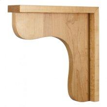 "2-1/2"" X 12"" X 12"" Wood Bar Bracket Corbel, Species: White Birch"