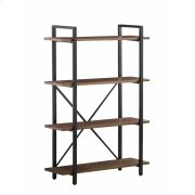 Industrial Walnut Bookcase Product Image