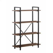 Industrial Walnut Bookcase