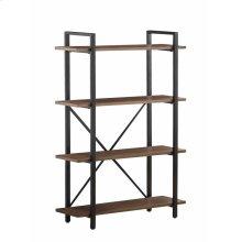 Industrial Walnut Bookcase