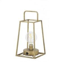 Table lamp lantern LED 15x15x30,5 cm FAUVE antiq bronze+lamp