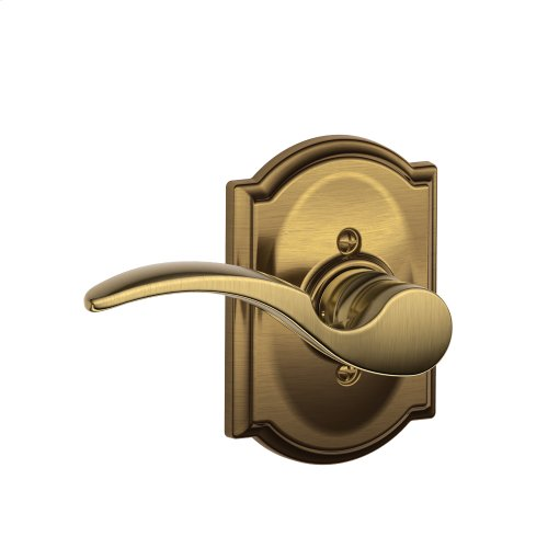St. Annes Lever with Camelot trim Non-turning Lock - Antique Brass