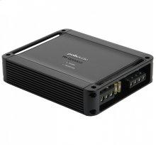Super-efficient class D bridgeable 2-channel mobile audio amplifier in Black