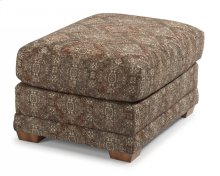 Coburn Fabric Ottoman without Nailhead Trim