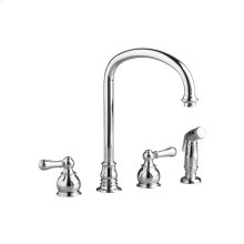 Hampton 2-Handle High-Arc Kitchen Faucet with Separate Side Spray  American Standard - Brushed Nickel