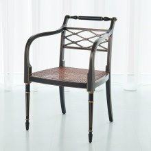 Norfolk Chair-Black / Gold