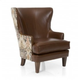 CLG Chair - Fabric & Leather Collage