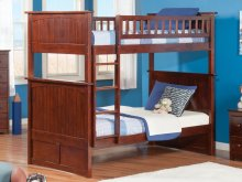 Nantucket Bunk Bed Twin over Twin in Walnut