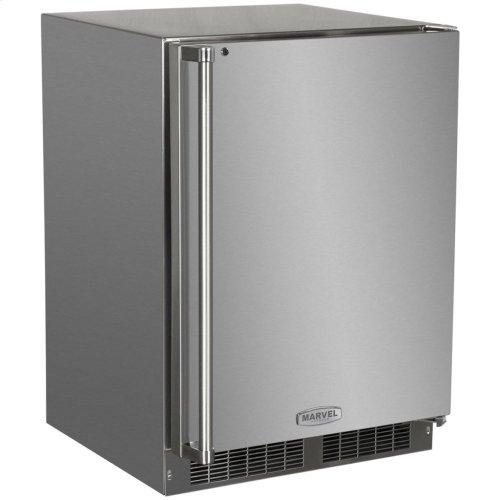 "24"" Outdoor Refrigerator/Freezer with Ice Maker Option - Left Hinge"