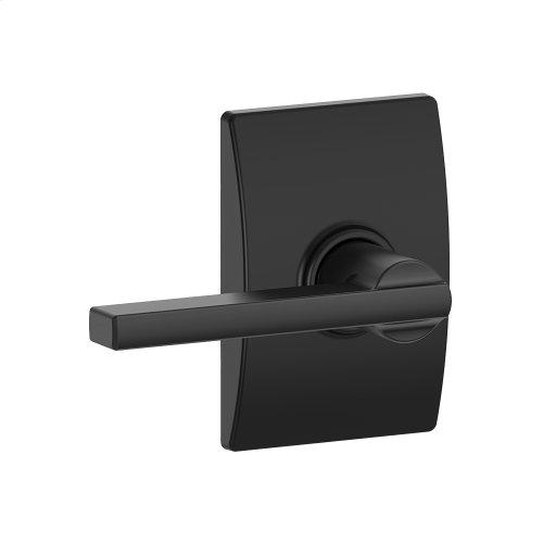 Latitude lever with Century trim Hall & Closet lock - Matte Black