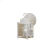 1 Light Outdoor Wall Light WHT