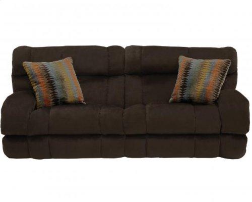 """Lay Flat"" Recl Sofa - Chocolate"