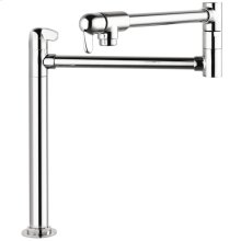 Chrome Allegro E Pot Filler, Deck-Mounted