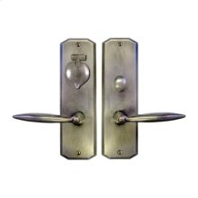 Solid Bronze Skewed Corner Escutcheon Mortise Entry Set