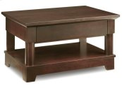 Hudson Valley Condo Coffee Table With 2 Drawers With Shelf
