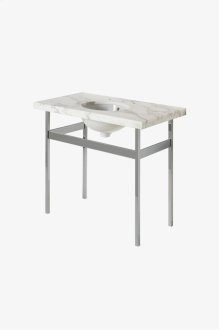 "Opus Metal Square Four Leg Single Washstand 34 1/4"" x 17 1/4"" x 33"" STYLE: OPWS22"