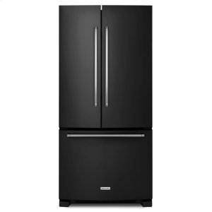 Kitchenaid22 Cu. Ft. 33-Inch Width Standard Depth French Door Refrigerator with Interior Dispenser - Black