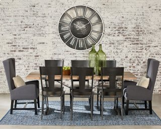 Industrial Truss & Strap Dining