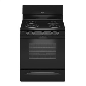 4.8 Cu. Ft. Freestanding Electric Range with High-Heat Self-Cleaning System - BLACK