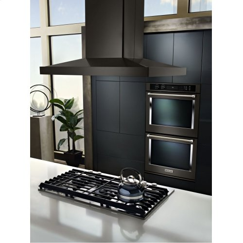 """36"""" Island-Mount, 3-Speed Canopy Hood - Black Stainless Steel with PrintShield™ Finish"""