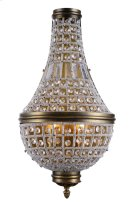 1209 Stella Collection Wall Sconce W:13.5in H:26in Ext: 6.5in Lt:3 French Gold Finish Royal Cut Crystal (Clear) Product Image
