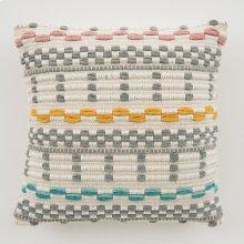 Woven Avery Pillow - Grey