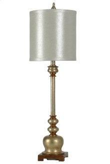 Franklin transitional buffet lamp with white silk blend shade