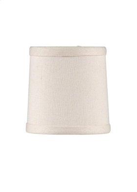 Cream Linen Chandelier Shade