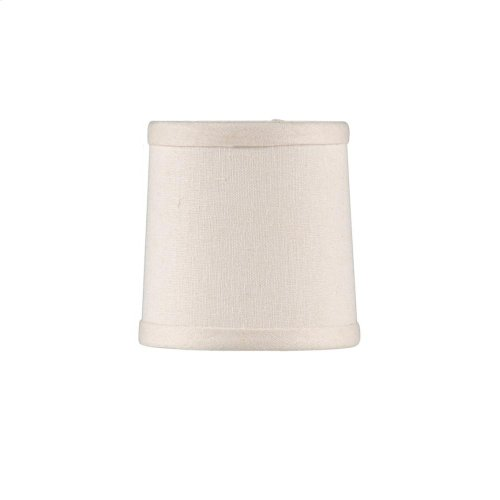 Cream Linen Chandelier Shade