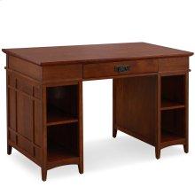 Mission Oak Tower Desktop PC Pier Base Desk with Center Drawer #82402