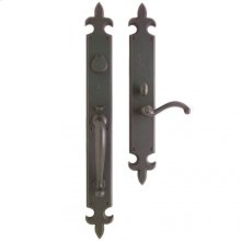 "Fleur de Lis Entry Set - 3 1/4"" x 27"" Silicon Bronze Brushed"