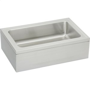 "Elkay Stainless Steel 33"" x 21"" x 8"" Single Bowl, Floor Mount Service Sink Package Product Image"