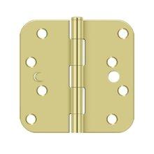 "4"" x 4"" x 5/8"" Radius Hinge, Security - Polished Brass"