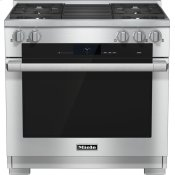 36 inch range Dual Fuel with M Touch controls, Moisture Plus and M Pro dual stacked burners