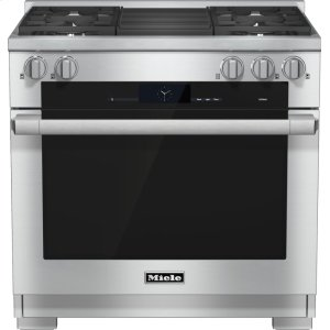 Miele Hr 1935-2 G - 36 Inch Range Dual Fuel With M Touch Controls, Moisture Plus And M Pro Dual Stacked Burners