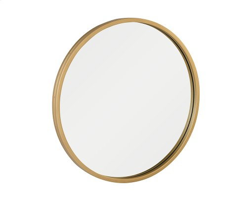 Brushed Brass Era Round Mirror