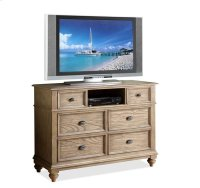 Coventry Entertainment Chest Weathered Driftwood finish Product Image