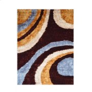Design Dark Brown - Orange Grey - Light Brown Silk & Polyester (pile Weight 1700g/sqm Pile Height 3.5CM, 2.5CM,1.5CM) Product Image