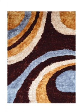 Design Dark Brown - Orange Grey - Light Brown Silk & Polyester (pile Weight 1700g/sqm Pile Height 3.5CM, 2.5CM,1.5CM)