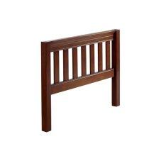 Slat Bed End Low/Low (Twin) : Chestnut