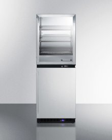 Fully Assembled Warming Cabinet and Frost-free All-freezer Stacked Combination