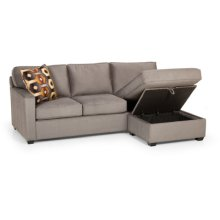 Queen Sofa Sleeper with Storage Chaise